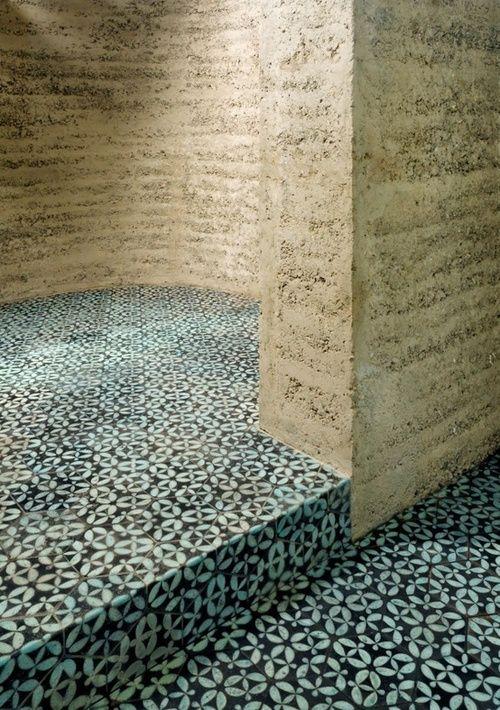 Rammed earth & clay tiles by Martin Rauch, Vorarlberg, Austria, via Wish!