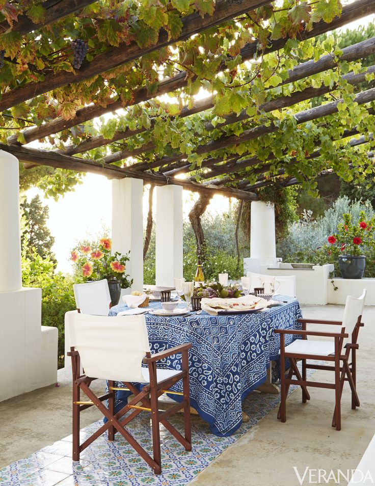HOUSE TOUR A Magical Italian Villa Stuns Inside And Out Outdoor Garden RoomsOutdoor DiningOutdoor