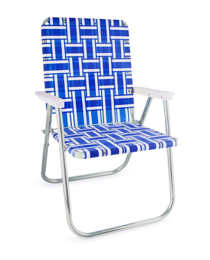 Set The Stage For Summer Barbecues With This Timeless Blue And White  Striped Aluminum Chair And Start Creating Those Everlasting Memories.