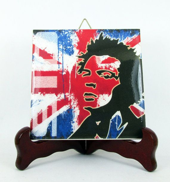 Sid Vicious Sex Pistols wall decor hanging by TerryTiles2014
