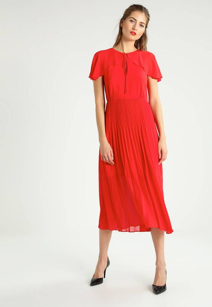 """Pinko. MISTICO - Summer dress - rosso. Our model's height:Our model is 71.0 """" tall and is wearing size 10. Fit:tailored. Outer fabric material:100% polyester. Pattern:plain. Care instructions:do not tumble dry,machine wash at 30°C,Machi..."""