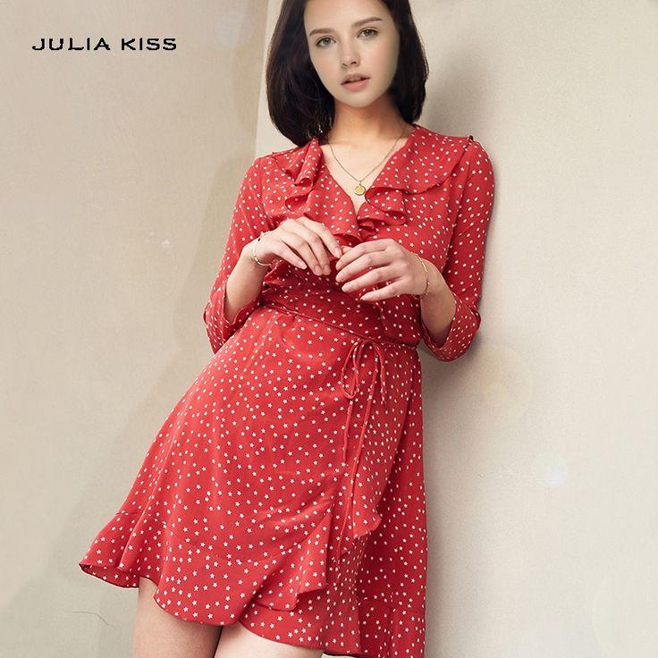 V-Neckline Ruffle T Wrap Dress //Price: $25.95 & FREE Shipping //     #stylish