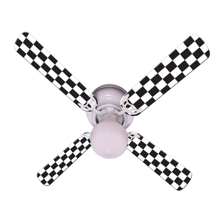 "CALL NOW! (727)-827-8268 Check out this awesome checkered racing flag fan to add to your car themed room! 42"" Ceiling Fan w/ Light Kit & Blades Brand new 42"" Hugger Ceiling Fan with Schoolhouse Style"