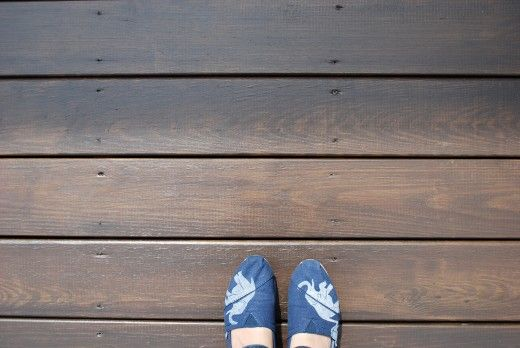 DIY STAINING DECK Behr Cordovan Brown