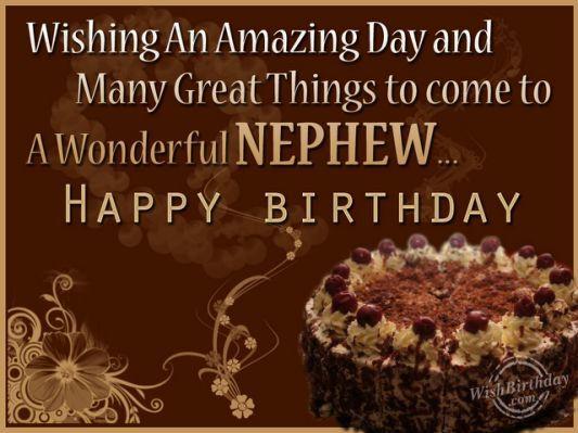 Birthday Wishes For Nephew -