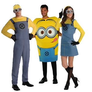 Ready to buy Adult Minion costumes.  Funny Halloween costume ideas! A great group costume theme for 2015. #halloween #costume