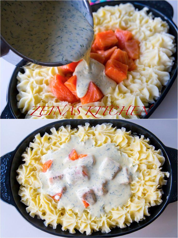 Festlig fiskgratäng med lax, spenat, läcker dillsås och duchessepotatis. En lyxig rätt som passar lika bra att bjuda på när man får gäster eller till vardags. Recept på fiskgratäng medtorsk hittar du HÄR! och recept på tonfiskgratäng hittar du HÄR! 6 portioner 500 g laxfile Duchessepotatis: 800 g potatis (gärna mjölig) 2 dl mjölk 50 g smör 2 äggulor 1 tsk salt 1 krm riven muskonöt (går att uteslutas) Dillsås: 5 dl grädde (valfri fetthalt, jag använder vispgrädde. Om du vill ha mindre mängd…
