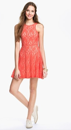 17 best images about 2dayslook coral dresses on for Nordstrom short wedding dresses