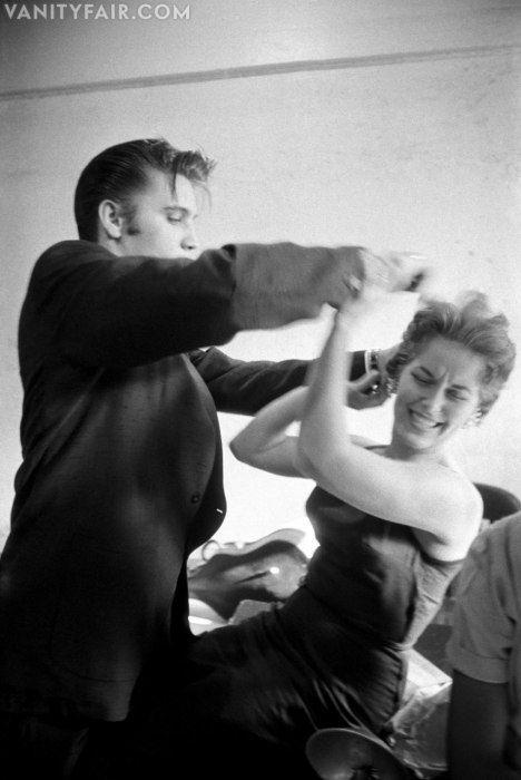 Elvis with Bobbi Owens by photographer Alfred Wertheimer, June, 1956.