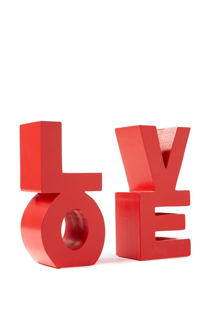 set 2 love bookends