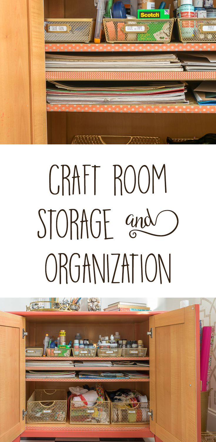 Unclutter Your Nest 2017: Organized Office/Craft Room via @nourishnestle