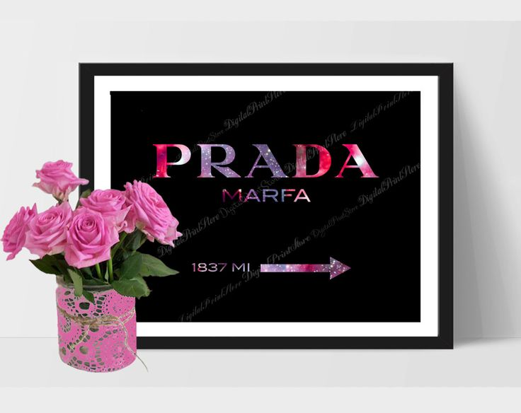 Prada Logo 03, Prada Marfa Print, Prada Glitter Wall, Fashion Quote, Gossip Girl by DigitalPrintStore on #Etsy #gift #prada #pradamarfa