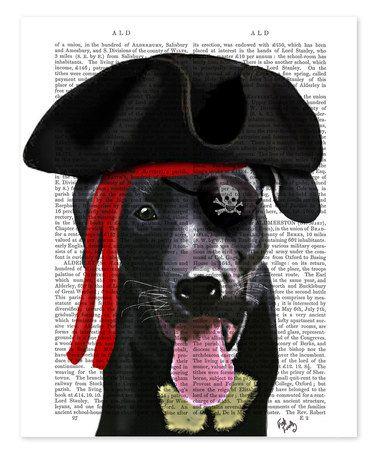 Look at this #zulilyfind! Black Labrador Pirate Dictionary Print #zulilyfinds