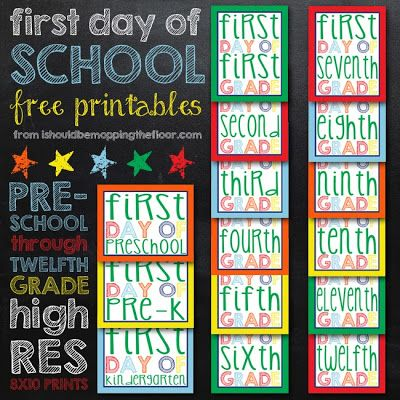 i should be mopping the floor: Friday's Freebie: First Day of School Printables
