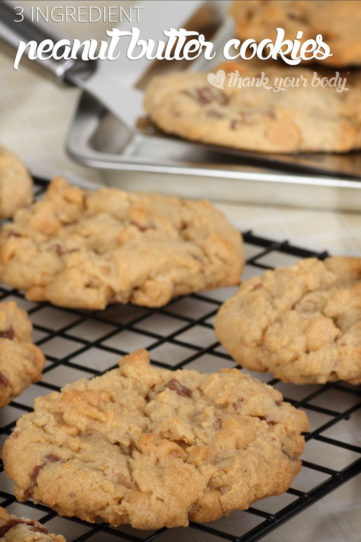 3 ingredient peanut butter cookies! As tasty as they are easy, and naturally grain and gluten free. So healthy, you won't feel bad about having seconds. You can even make them Paleo.