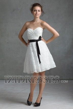 A-line Strapless Sweetheart Lace Bridesmaids Dress - IZIDRESSES.COM      I LOVE THIS DRESS! IT WOULD BE ADORABLE WITH COWGIRL BOOTS!