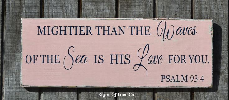 Beach Nautical Nursery Decor Scripture Verse Pink