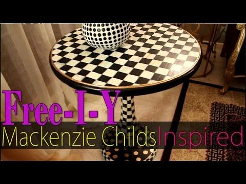 Nice DIY Mackenzie Childs Inspired Accent Table Makeover
