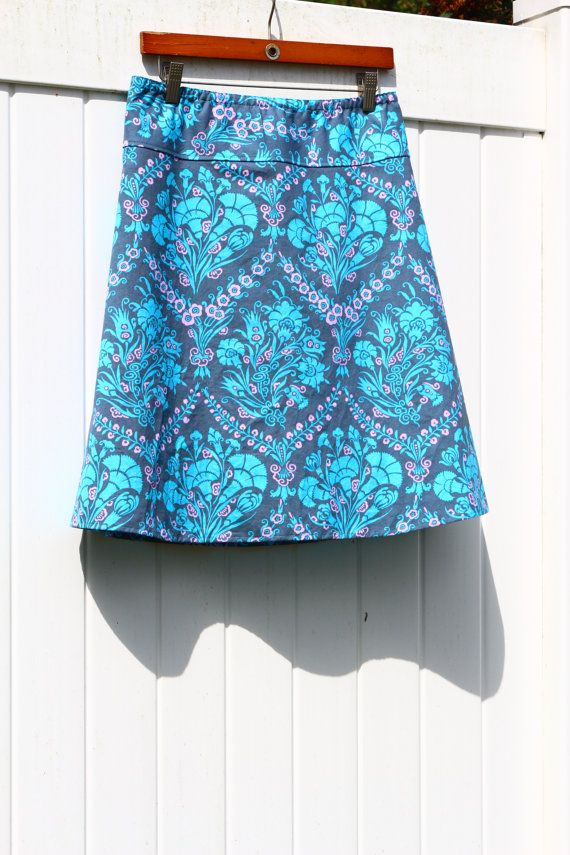 Woman's A Line Skirt Amy Butler Cameo Josephines by SewingBySelena