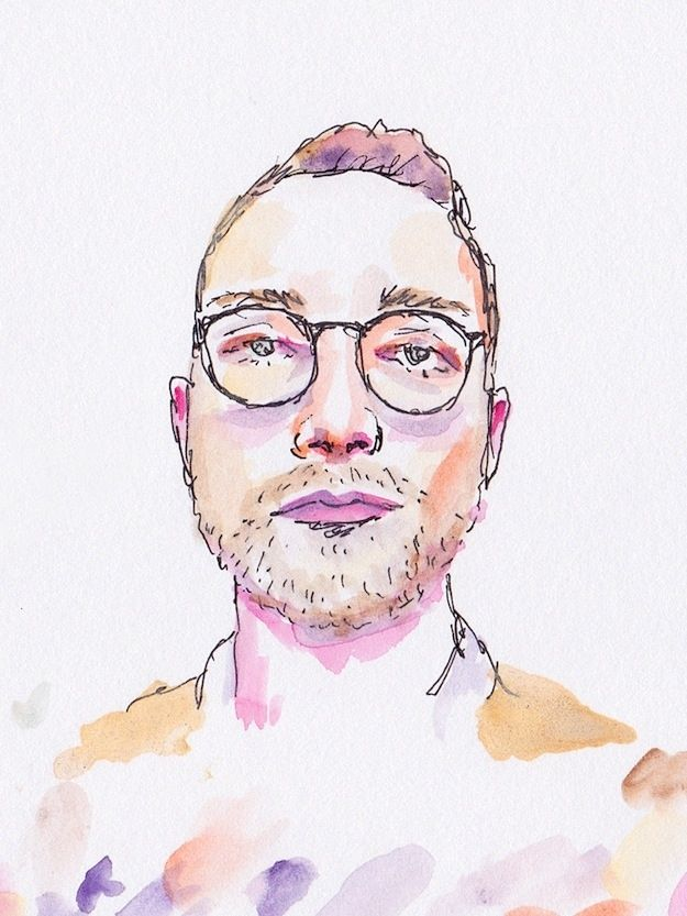 Watercolor Illustrations Of Grindr Profiles