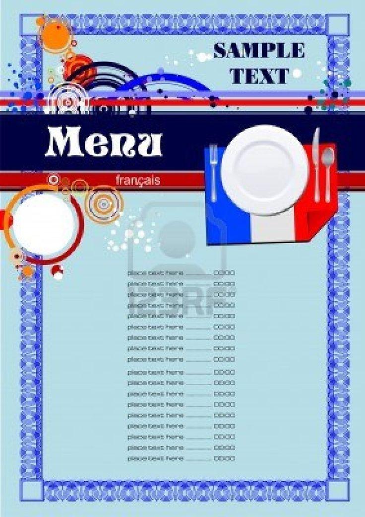 Menu du restaurant français (cafe) Banque du0027images - 9552035 - cocktail menu template free download