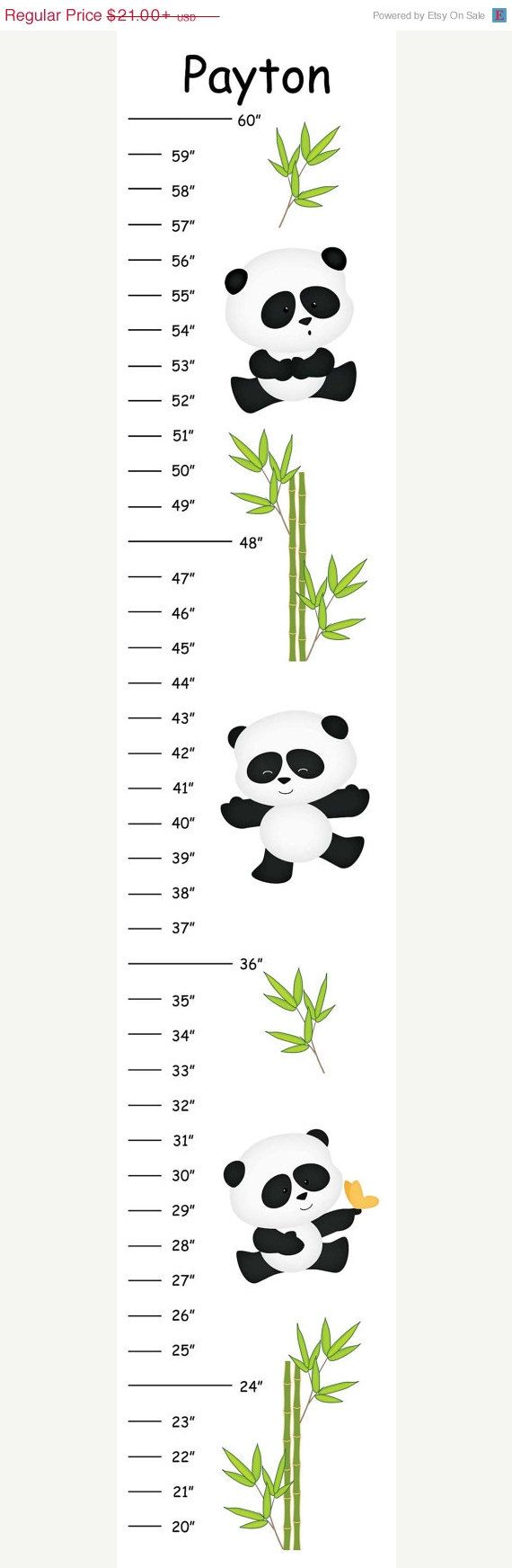 ON SALE Personalized Bamboo Panda Canvas by CamieTurnerDesigns, $18.90