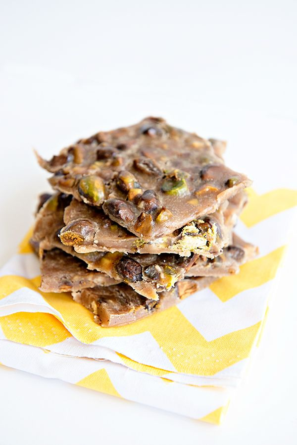 Sweet, salty and oh so good!!!! --> Toasted Pistachio Toffee Brittle