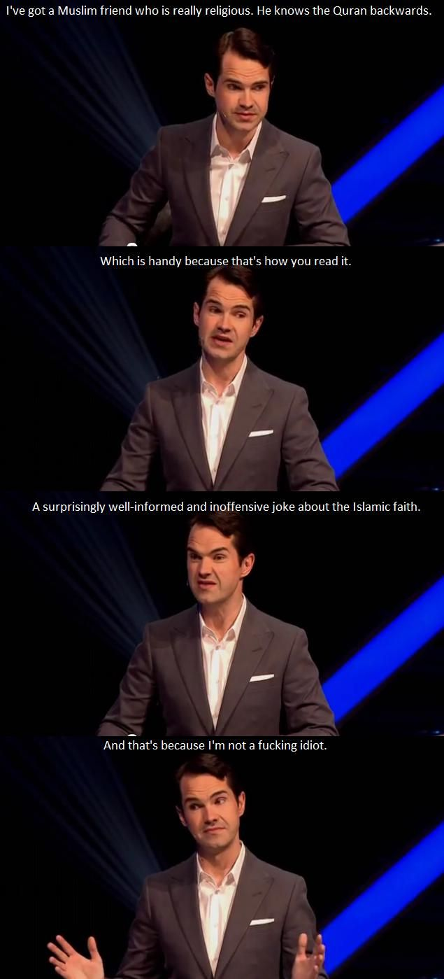 if you say 'Jimmy Carr' in a Jamaican accent, it sounds like 'Jamaica'