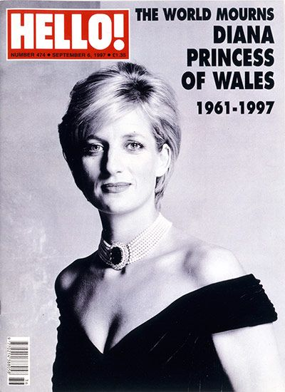 Credit: Courtesy of Hello! Magazine Princess Diana Issue 4746, September 1997.