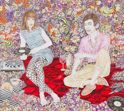 Abetz & Drescher Jane Birkin & Serge Gainsbourg 2011, Acryl auf Leinwand Acrylic on canvas, 180 x 200 cm