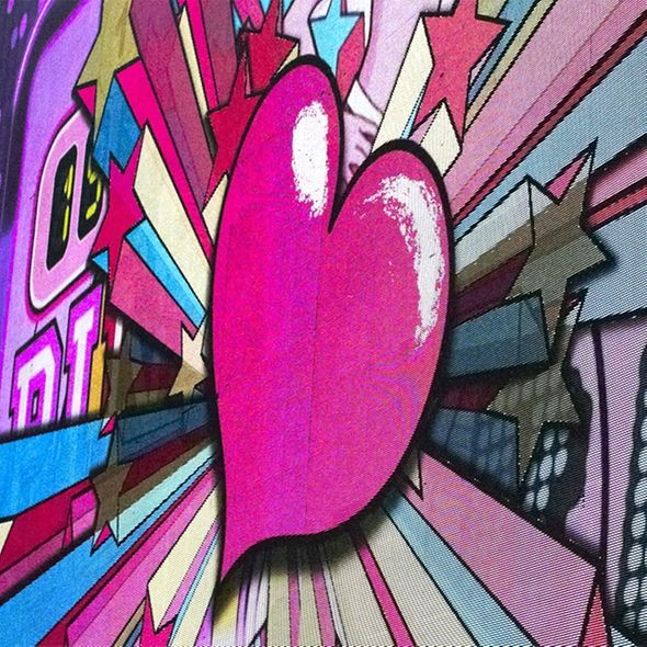 pink graffitti