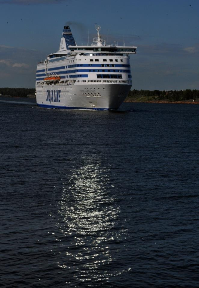 The cruise ship sailing between Helsinki and Stockholm