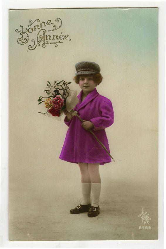 1920s дети ребенок очаровательные маленькие девочки с цветами тонированные фото открытка | eBay