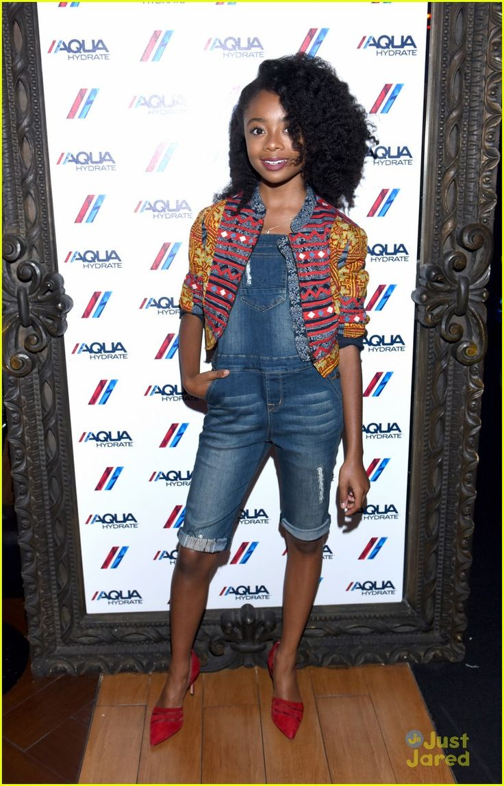 Skai Jackson at the AQUAhydrate suite during the Drake and Future concert
