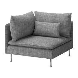 SÖDERHAMN Housse pour élément d'angle - Isunda gris - IKEA