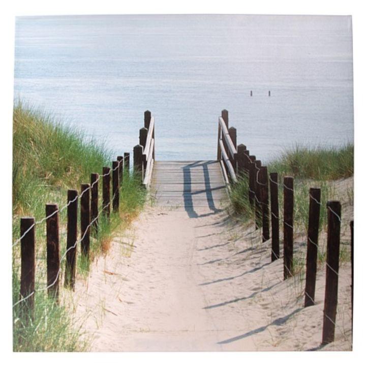Afbeelding van Graham & Brown Buitenschilderij 79x79 cm - Strand