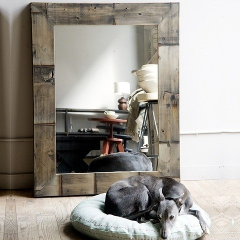Reclaimed Wood Mirror eclectic mirrors: Mirror Mirror, Reclaimed Wood, Decor Ideas, Wood Mirror, Canvas, Photo, Woods