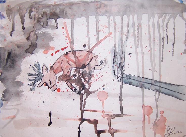"""Who Killed Bambi?""   Watercolor"