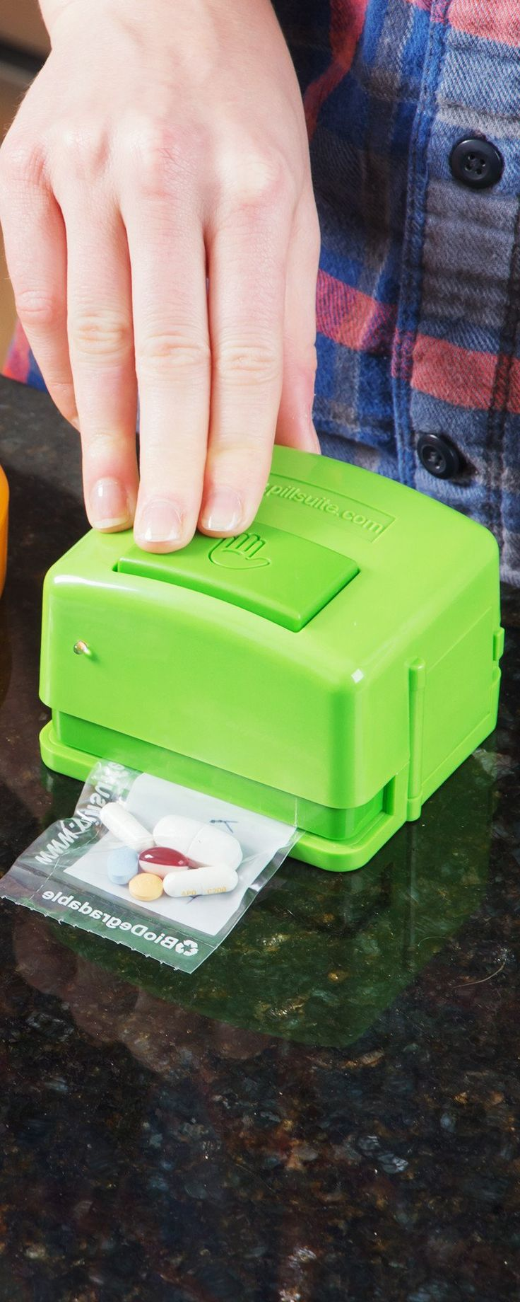 PillSuite's personal pill pack system, discovered by The Grommet, allows you to sort and seal your meds into individual baggies to easily take on the go.