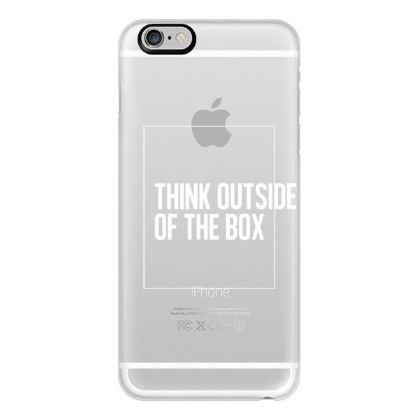 iPhone 6 Plus/6/5/5s/5c Case - THINK OUTSIDE OF THE BOX. Very Clearly. ($40) ❤ liked on Polyvore featuring accessories, tech accessories, phone cases, phone, iphone, iphone case, phonecase's, apple iphone cases, iphone 5 cover case and iphone 6 case