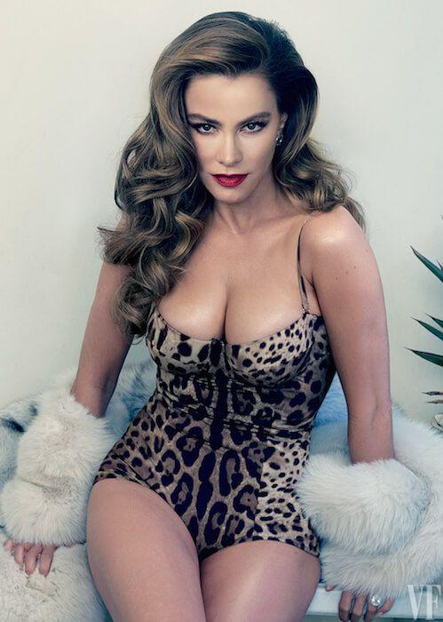 Sofia Vergara posing for Vanity Fair's May 2015 Cover Shoot....