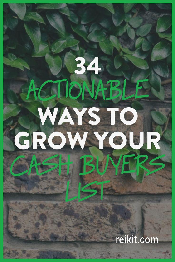 Build Your Cash Buyers List – 34 Ways!