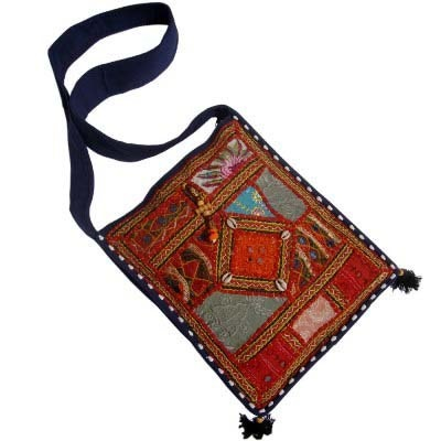Handmade Embroidery Barmeri Blue Shoulder Bag-107 #Handmade Embroidery