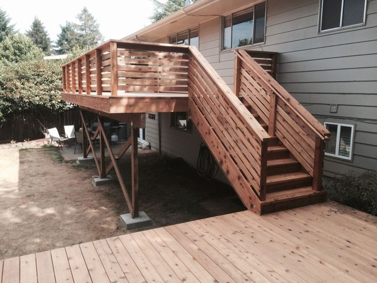 Best Cedar Deck With Horizontal Railing With Images 400 x 300