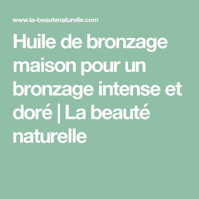 Huile de bronzage maison pour un bronzage intense et doré   La beauté naturelle