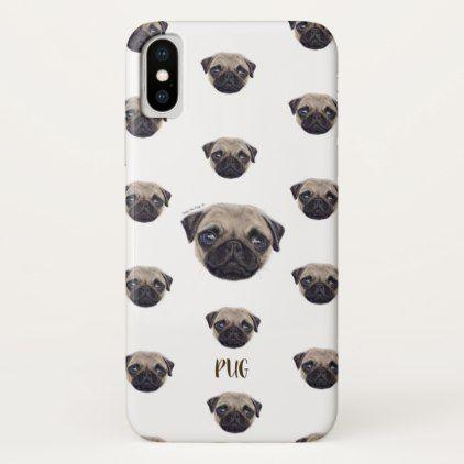 Personalized Shug The Scottish Pug Iphone X Case Pup And Dog
