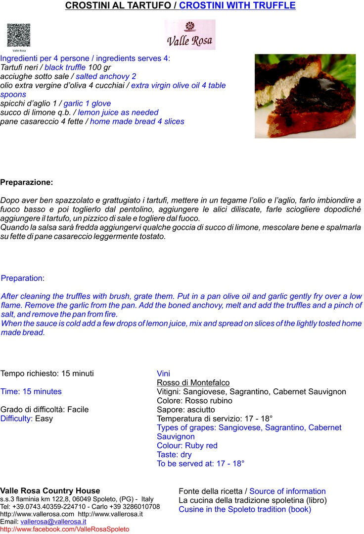 Crostini al tartufo/Crostini with truffle