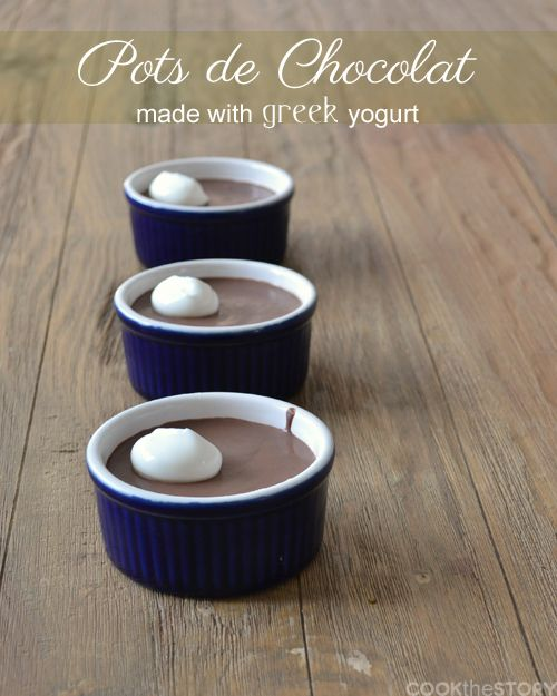 Pots de Chocolat: An easy dessert recipe made with Greek yogurt.