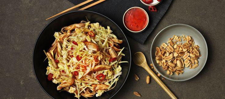 Pad Thai med kyckling