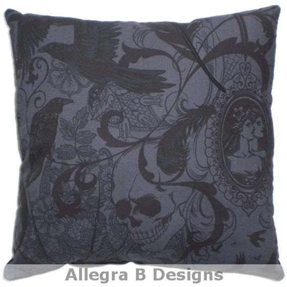 Victorian Gothic Decorative Throw Pillow Steampunk Home Decor on Etsy, $15.00